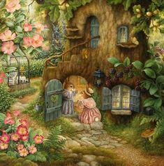 Susan Wheeler, artist ~ bunnies in the glen