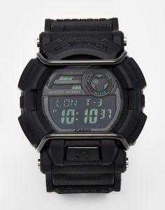 Armbanduhr von G-Shock Silikonarmband Gehäuse aus Kunstharz und Edelstahl Digitales Uhrwerk Chronograph-Design Weltzeit- und Kalenderfunktion automatische Beleuchtung, Alarm- und Stoppfunktion Dornschließe 20 atm wasserdicht bis 100 Meter (656 Fuß)