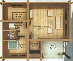 Баня с большой комнатой отдыха, душевой, санузлом и купелью