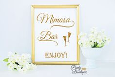 Glitter Wedding Sign Wedding Mimosa Bar Sign by PartyBoutiqueDIY