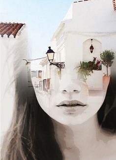 double exposure photography by Antonio Mora (Spain) - vacation head Double Exposure Photography, Levitation Photography, Surrealism Photography, Water Photography, Photoshop Photography, Creative Photography, Photography Tricks, Abstract Photography, Art Visage