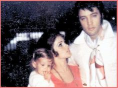 rare pictures of elvis ans lisa
