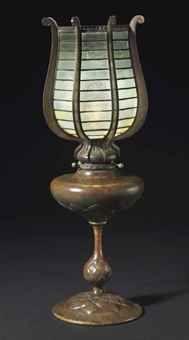 Lantern, Tiffany Studios NY, leaded glass and patinated bronze, ca.1910