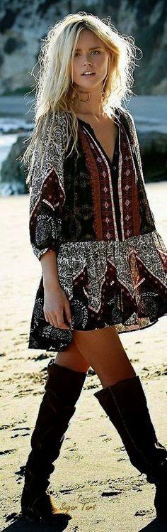 Stylish bohemian boho chic outfits style ideas 87