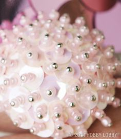 Use plain foam spheres, sparkling beads, and shimmering sequins to create pieces of jewelry! (Instructions here.)