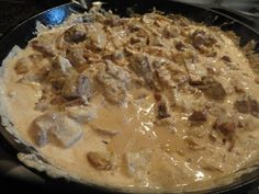 Beef Stroganoff M~Real good, make again. Used 2 1/2 lbs meat and doubled everything else.
