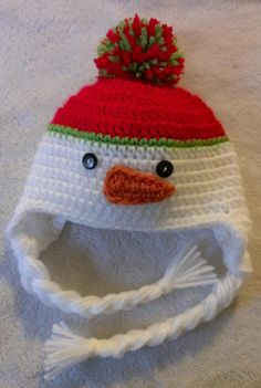 READY+TO+SHIP+newborn+crocheted+snowman+hat+by+sweetfaithboutique,+$14.99