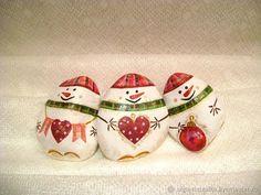 Купить Снеговички Новогодние, снеговики из камушков в интернет магазине на Ярмарке Мастеров
