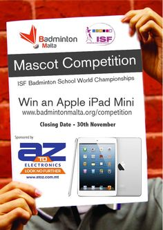 Mascot/Logo Competition for ISF Badminton School World Championships