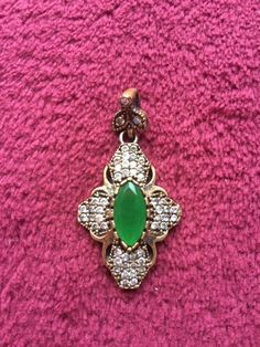 Sterling Silver And Natural Gemstones Hand Made Pendant    eBay