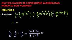 Multiplicación de Expresiones Algebraicas: Monomio por Monomio