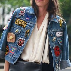 Jeans com Patches | Fashion week | Street style | Trend | Tendência | http://cademeuchapeu.com