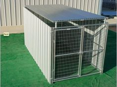 Heavy Duty Outdoor Enclosed Dog Kennel with Roof Shelter-Single Run – Heavy Duty Pet Crates