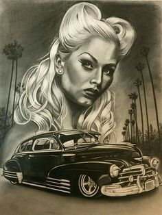 Clown girl by Chicano Art Tattoos, Body Art Tattoos, Chicano Drawings, Arte Lowrider, Lowrider Tattoo, Ozzy Tattoo, Aztecas Art, Azteca Tattoo, Girl Face Tattoo