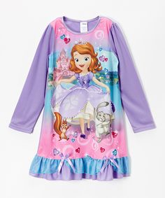 Look what I found on #zulily! Pink & Purple Sofia the First Nightgown - Girls by Sofia the First #zulilyfinds