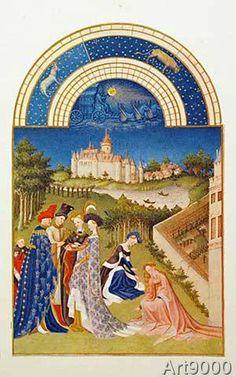 Gebrüder Limburg - April / Très riches heures / c.1410/16