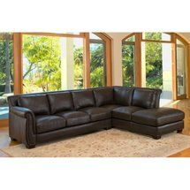 Walmart: Abbyson Living Vegas Brown Leather Sectional