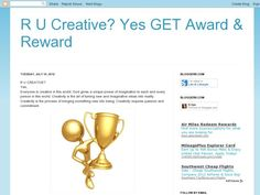 R U Creative? Yes GET Award & Reward - Blog Author: Kripa - Bloggers