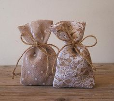Rustic wedding 50 pc favor bags by myRusticDream on Etsy #Lavender #Wedding