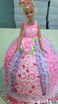 Barbie Cake - I like the center part of the skirt