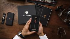 Tonino Lamborghini Alpha One smartphone with box visible