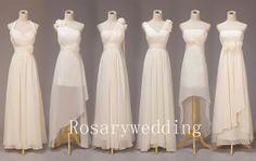 Biege elegant chiffon bridesmaid/prom dress by rosary11 on Etsy, $129.00