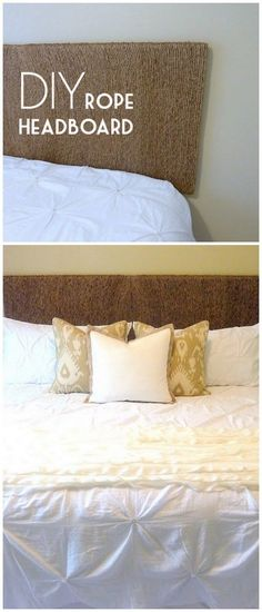Check out this tutorial on how to make a #DIY rope headboard. Looks easy enough! #BedroomIdeas #HomeDecorIdeas @istandarddesign
