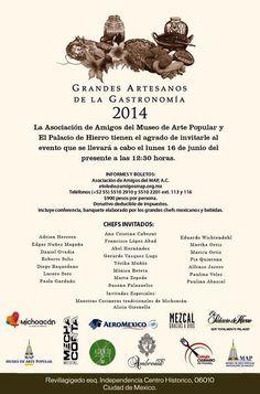 Grandes Artesanos de la Gastronomía 2014 / #CDMX / 16 junio 2014