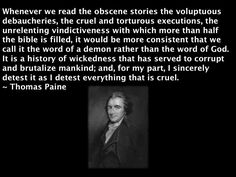 Thomas Paine on the Bible.