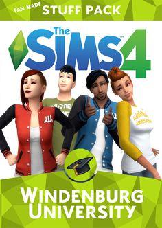 Sims 4 CC's - The Best: Windenburg University by redhotchilisimblr