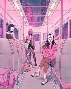 Haylee Morice is an illustrator and fine artist. Arte Do Kawaii, Kawaii Art, Aesthetic Art, Aesthetic Anime, Korean Aesthetic, Anime Scenery Wallpaper, Girl Wallpaper, Japon Illustration, Digital Illustration