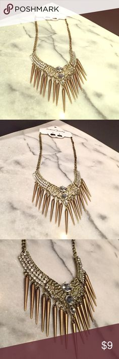 NWT Punk Glam Necklace NEW WITH TAGS Punk Glam Necklace. Bronze Toned w/Lots of Crystal Rhinestone Accents. Jewelry Necklaces