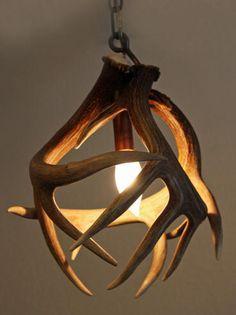 Unique antler chandeliers, antler pot racks, antler bar light all made from moose, deer, elk, and caribou antler..