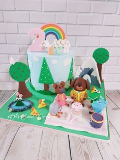 I like the cake in the background 2nd Birthday Cake Boy, Cartoon Birthday Cake, 4th Birthday Parties, Birthday Ideas, Cbeebies Cake, Bing Cake, Baby First Cake, Cartoon Cakes, Cakes For Boys