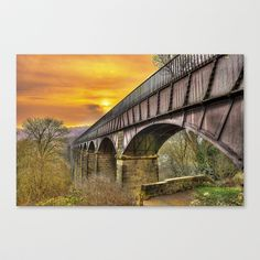 AquaDuct At Sunset Stretched Canvas by Darren Wilkes Fine Art Images - $85.00