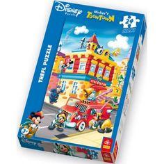 14083 - Puzzle Mickey Estación de Bomberos, 24 piezas Maxi, Trefl.  http://sinpuzzle.com/puzzles-infantiles-20-piezas/488-puzzle-24-maxi-estacion-de-bomberos.html