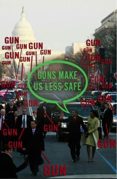 So stop protecting these wing nuts that don't want guns allowed.  Okay Obama and Clinton, you got your way...no more guns protecting your pathetic asses anymore.  Please walk freely among your paid protestors...please.