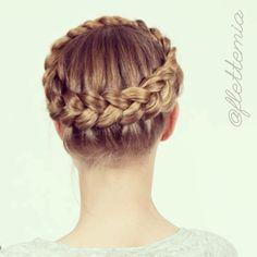 """Crown braid on @julilouise // Hollandsk kroneflette på @julilouise"" Photo taken by @flettemia on Instagram, pinned via the InstaPin iOS App! http://www.instapinapp.com (05/27/2015)"