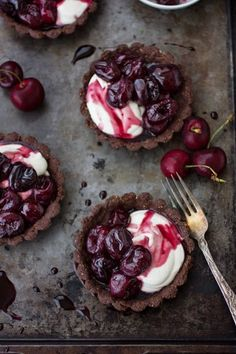 Gluten-Free Chocolate, Cherry, & Chèvre Cream Tarts | The Bojon Gourmet