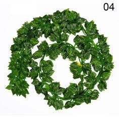 12 Artificial Hanging Ivy Vine Fake Foliage Green Leaf Garland Plant Home Decor