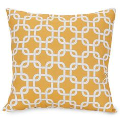 Majestic Home Goods 85907220831 Yellow Links Large Pillow 20x20