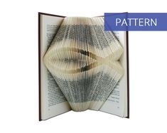 Folded Book Art Pattern - Christian Fish - 224 Folds - Including manual - Bookfolding Pattern - Folded Book Pattern - Book Folding pattern