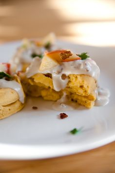 Sweet Potato Biscuits and Apple Sausage Gravy - Vegan