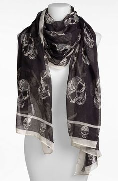 BP. Sheer Skull Print Scarf available at #Nordstrom