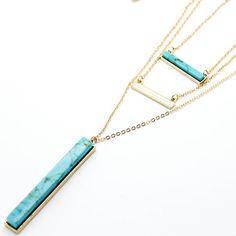 Bar layer long necklace – Imsmistyle.