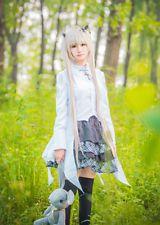 ANIME COS  Girl Sexy Yosuga No Sora Kasugano Sora Cosplay Dress Suit Costume