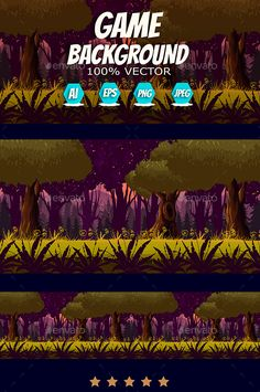 Dark Forest Game Background - Backgrounds Game Assets