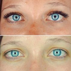 before and after classic volume set done by Lori Myers at Let's Lash eyelash extension studio in Scottsdale, AZ.