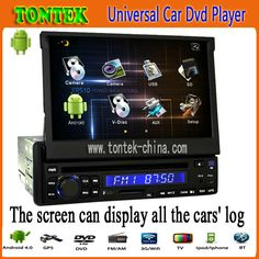 Universal 1 din 7 inch android auto radio gps car dvd audio navigation system player with radio bluetooth TK8200