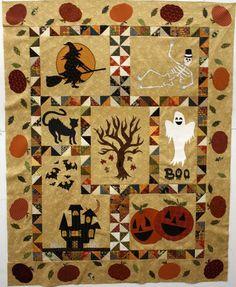 halloween quilt blocks | Halloween block of the month quilt